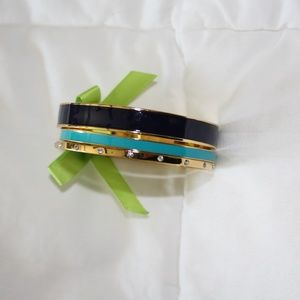 Set of three gold bangles